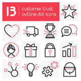 Customer Trust Outline Icons Royalty Free Stock Photography