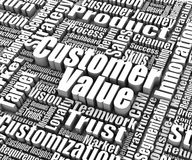 Customer Value. Group of customer value related words. Part of a business concept series Royalty Free Stock Images