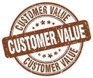 Customer value brown stamp. Customer value brown grunge stamp Royalty Free Stock Photos