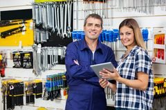 Customer And Vendor With Digital Tablet In Stock Images