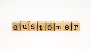 Customer wording isolate on white background Royalty Free Stock Photo