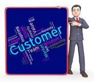 Customer Words Shows Patronage Consumers And Wordcloud Royalty Free Stock Photo