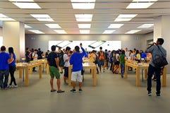 Customers at apple store hong kong Stock Image