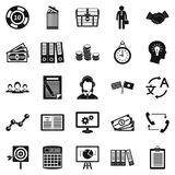 Customers of the bank icons set, simple style Stock Photos
