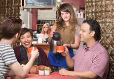 Customers Being Served Coffee Stock Photo