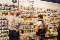 Customers buying lures Royalty Free Stock Image