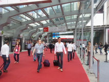 Customers in canton fair 2013 Royalty Free Stock Image