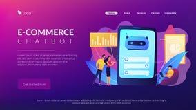 Chatbot customer serviceconcept landing page. royalty free illustration