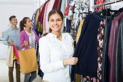 Customers at the clothes store Stock Photography