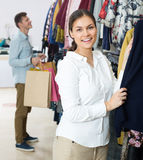 Customers at the clothes store Royalty Free Stock Photo