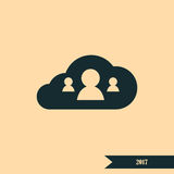 Customers connected to cloud service icon Stock Photography