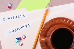Customers and contracts Stock Photos