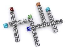 Customers crossword Stock Images