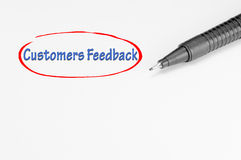 Customers Feedback - Business Concept Stock Photo