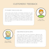 Customers' feedback web template Royalty Free Stock Photos