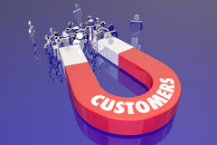 Customers Magent Attracting New People Word Stock Photo