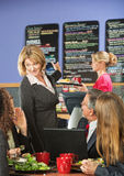 Customers and Mangager Talking about Menu Royalty Free Stock Photos