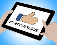 Customers Online Means Tablets Web And Client Stock Images