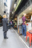 Customers outside a cafe in Melbourne Stock Image