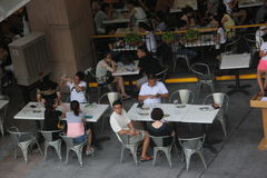 The Customers in the restaurant  in NANSHANG SHENZHEN Royalty Free Stock Photography