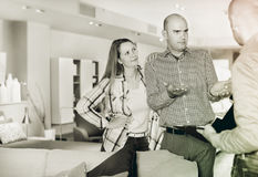 Customers revealing discontent with furniture seller Stock Images
