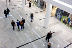 Customers rush inside the shopping mall Stock Image