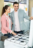 Customers in small domestic appliances section Stock Images