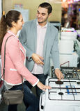 Customers in small domestic appliances section Royalty Free Stock Photography