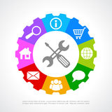 Customers support icon. Vector clip art royalty free illustration