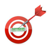 Customers target and dart illustration design Royalty Free Stock Image