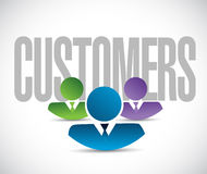 Customers team sign illustration design graphic Stock Images