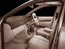 Customised designer  car interiors  industry. Customised car interiors and designer leather upholstery Stock Image