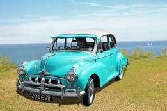 Customised morris minor. Photo of a customised vintage classic morris minor showing attending the whitstable car show during 2015.nphoto ideal for outdoor car Royalty Free Stock Images
