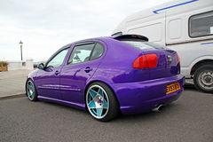 Customised seat car. Photo of a customised seat car with purple paintwork and Stock Photography
