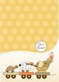 Customizable baby card Royalty Free Stock Photo