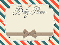 Customizable baby shower invitation in retro style Stock Photography