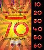 Customizable birthday party card template Stock Photo