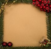 Customizable Christmas Background - Add your own writing Stock Photo