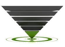 Customizable conversion funnel Royalty Free Stock Image
