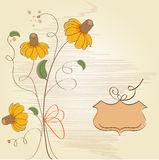 Customizable floral background Royalty Free Stock Image
