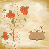 Customizable floral background Royalty Free Stock Images