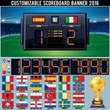 Customizable funktionskort för fotboll Royaltyfria Foton