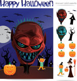 Customizable Halloween Card Royalty Free Stock Photography