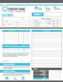 Customizable Invoice work order template design Stock Photo