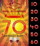 Customizable mall för kort för födelsedagparti Arkivfoto