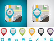 Customizable map location icon vector illustration