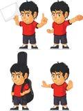 Customizable maskot 10 för fotbollpojke Royaltyfri Fotografi