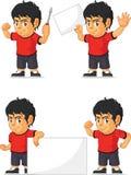 Customizable maskot 19 för fotbollpojke Royaltyfria Bilder