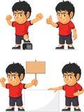 Customizable maskot 18 för fotbollpojke Arkivbilder