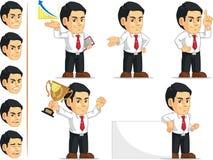Customizable maskot för kontorsarbetare Arkivfoton